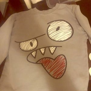 Scary monster face shirt size 5/6